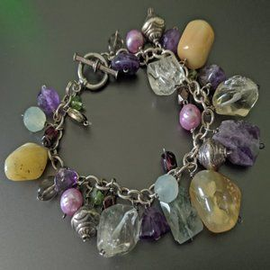 Jewelry - Toggle Clasp Natural Stone Bracelet